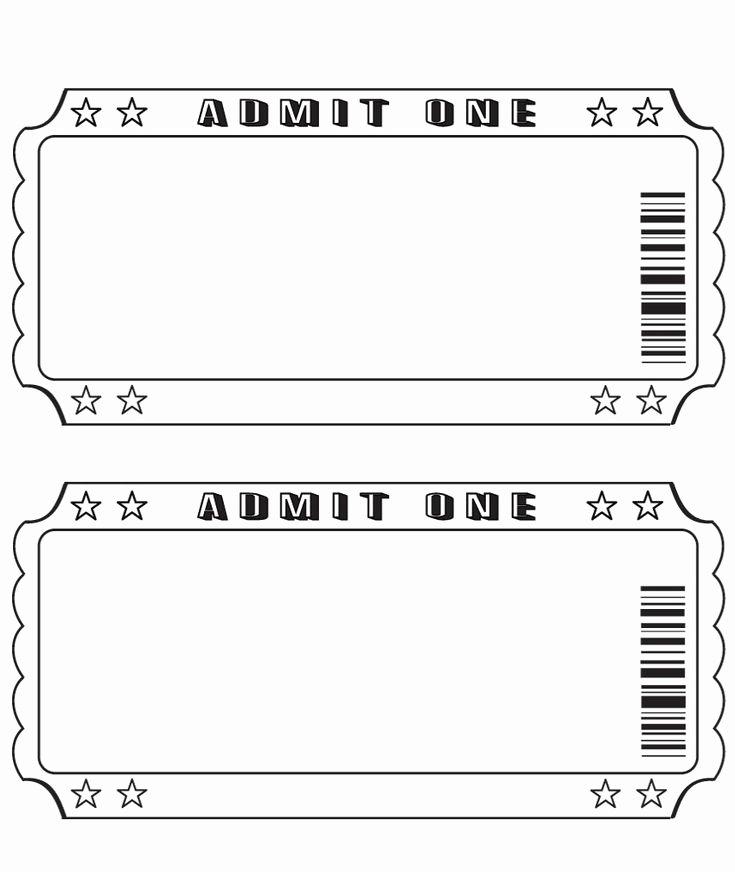 Printable event Ticket Template Free Elegant Best 25 Ticket Template Ideas On Pinterest