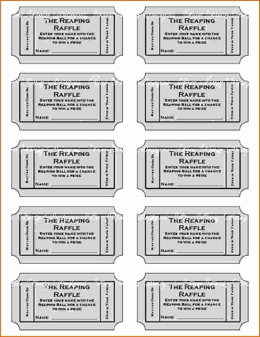 Printable event Ticket Template Free Inspirational 11 Free Printable Raffle Ticket Template