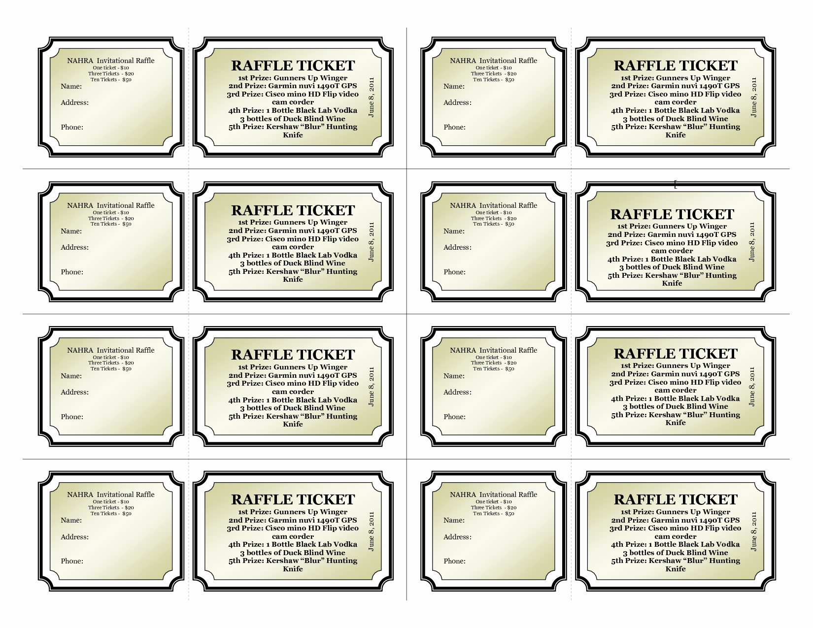 Printable event Ticket Template Free Luxury Free Printable Raffle Tickets Template Bamboodownunder