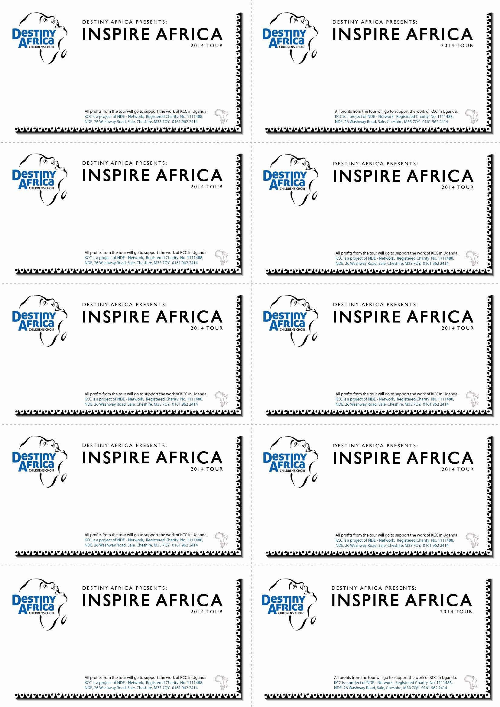 Printable event Ticket Template Free New event Ticket Template Word Bamboodownunder