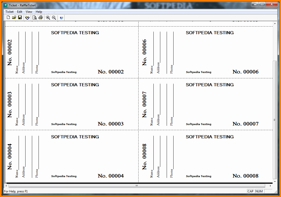 Printable event Ticket Template Free New Free Printable Raffle Tickets