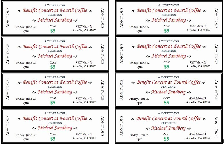 Printable event Ticket Template Free New Generic event Ticket Templates