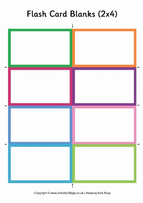 Printable Flash Card Template Awesome Awesome for Vocabulary Memorization for the Little Ones