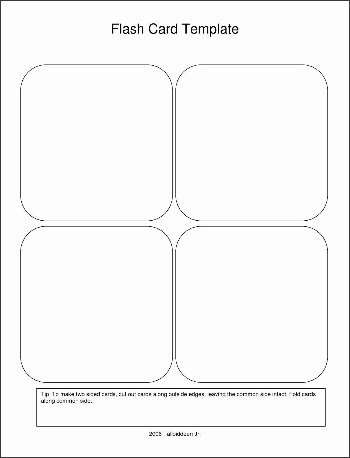 Printable Flash Card Template Fresh 9 Free Printable Flash Card Template Sampletemplatess