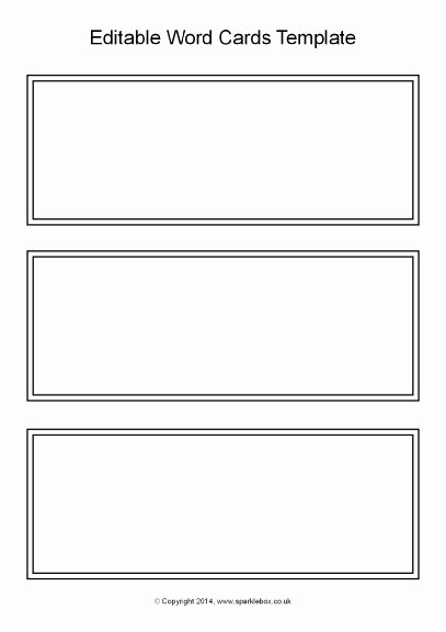 Printable Flash Card Template New 21 Of Blank Task Cards Template Black and White