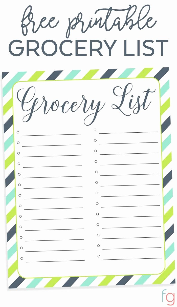 Printable Grocery List Template Elegant Best 25 Grocery List Printable Ideas On Pinterest