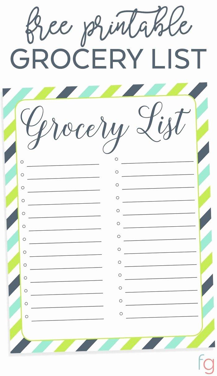 Printable Grocery List Template Elegant Best 25 Grocery List Printable Ideas On Pinterest