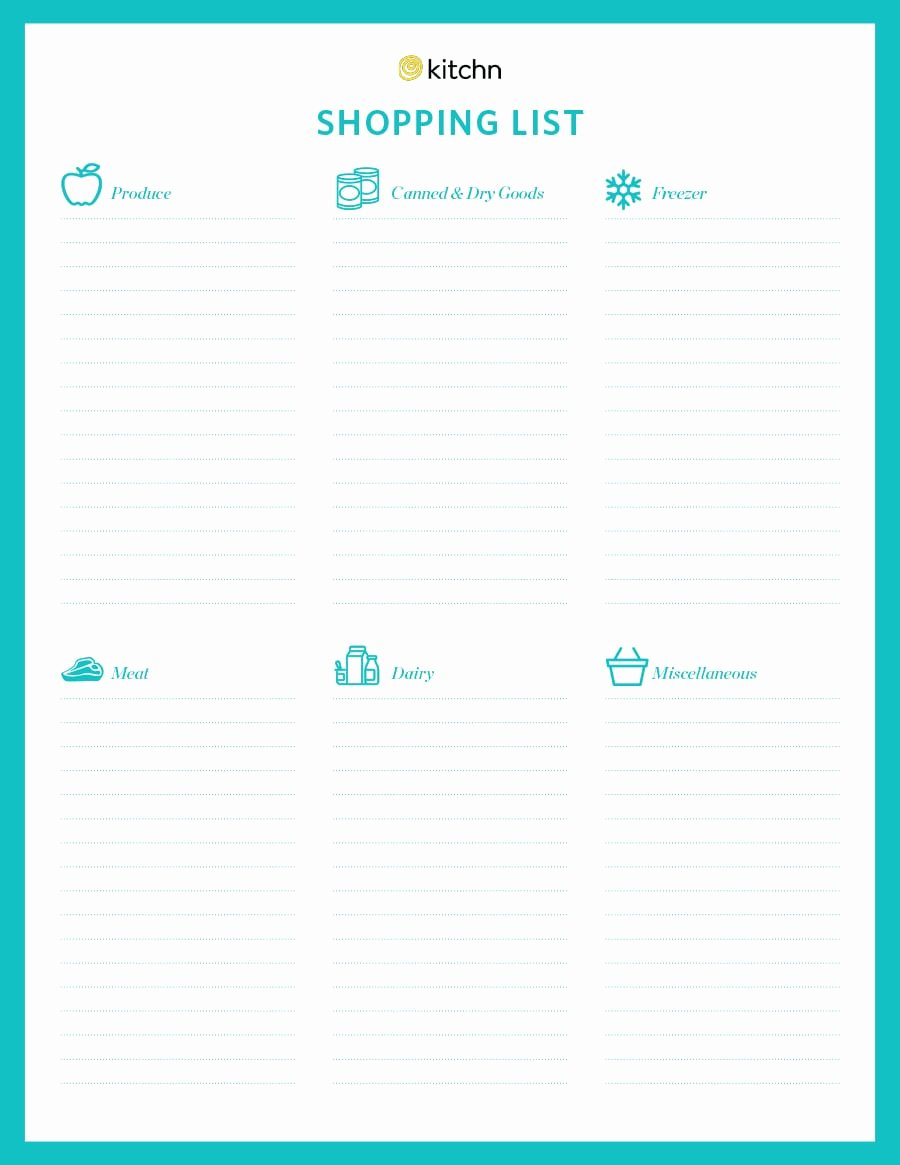 Printable Grocery List Template Inspirational 40 Printable Grocery List Templates Shopping List
