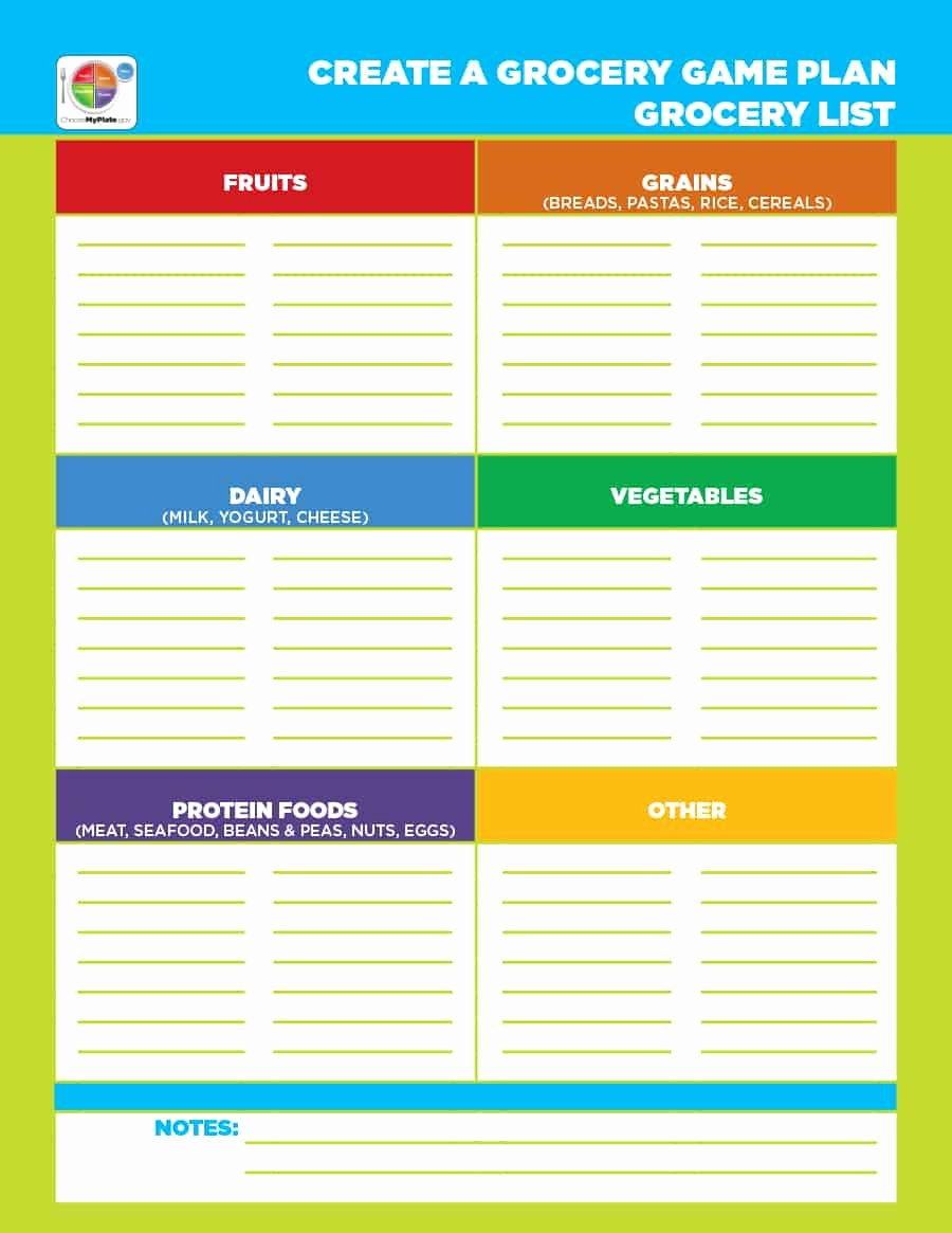 Printable Grocery List Template Unique 40 Printable Grocery List Templates Shopping List