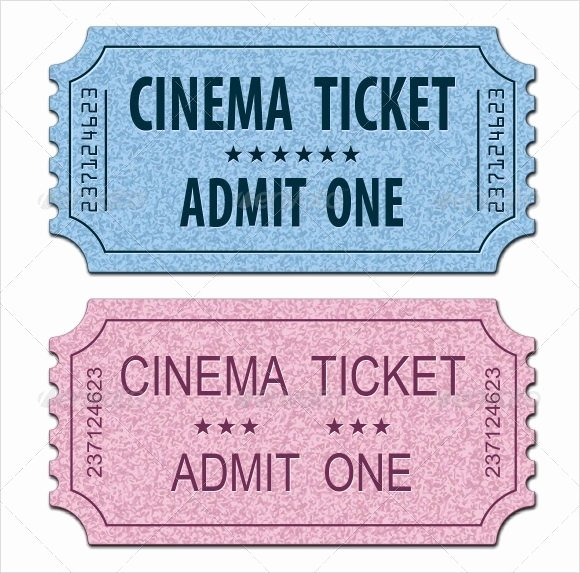 Printable Movie Tickets Template Awesome 11 Sample Amazing Movie Ticket Templates to Download