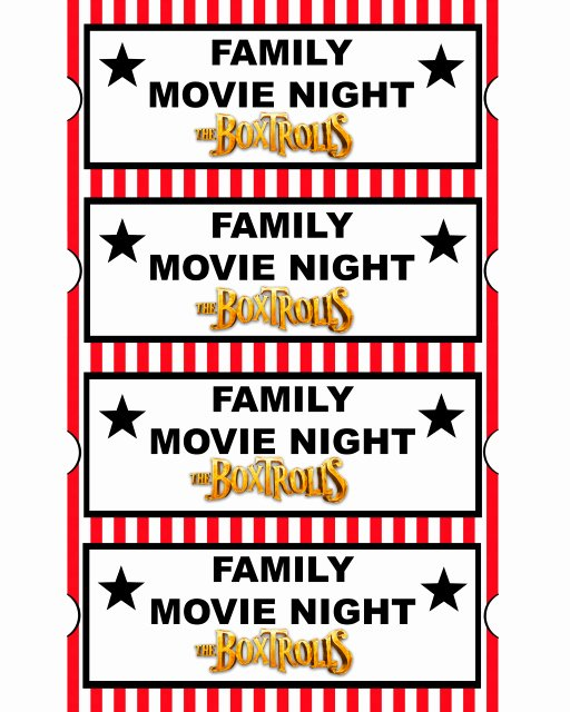 Printable Movie Tickets Template Best Of 29 Of Family Movie Night Template Editable