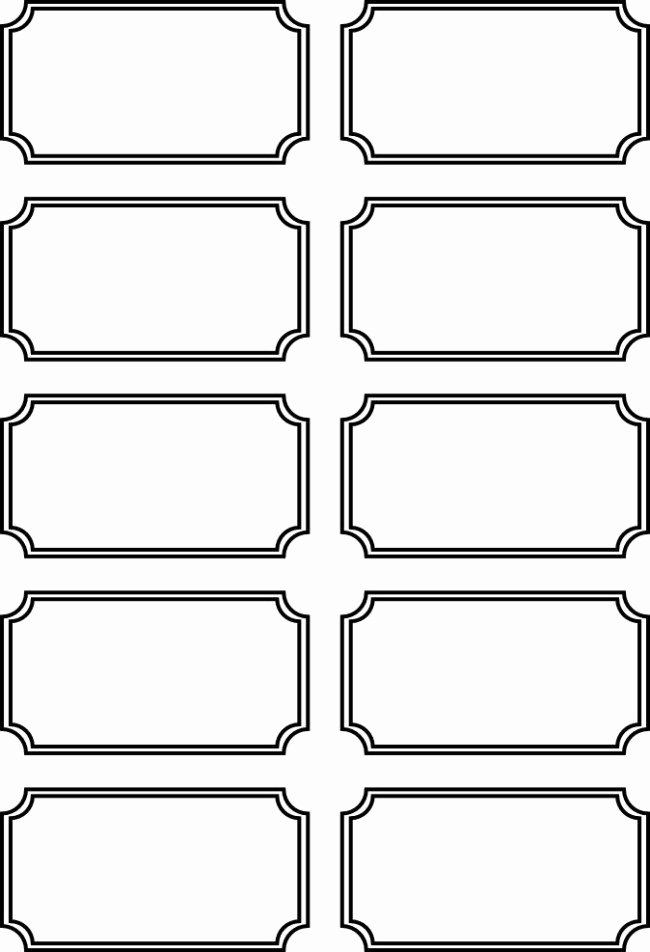 Printable Movie Tickets Template Elegant 36 Editable Blank Ticket Template Examples for event Thogati