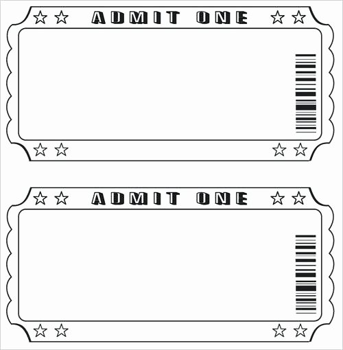 Printable Movie Tickets Template Elegant Movie Ticket Template Printable Templates Invitation Free