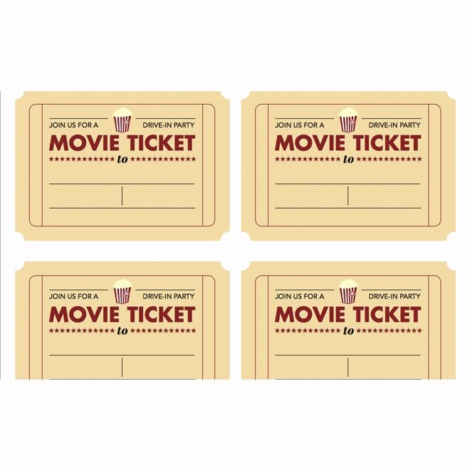 Printable Movie Tickets Template Elegant Printable Movie Ticket Invitation From today S Parent
