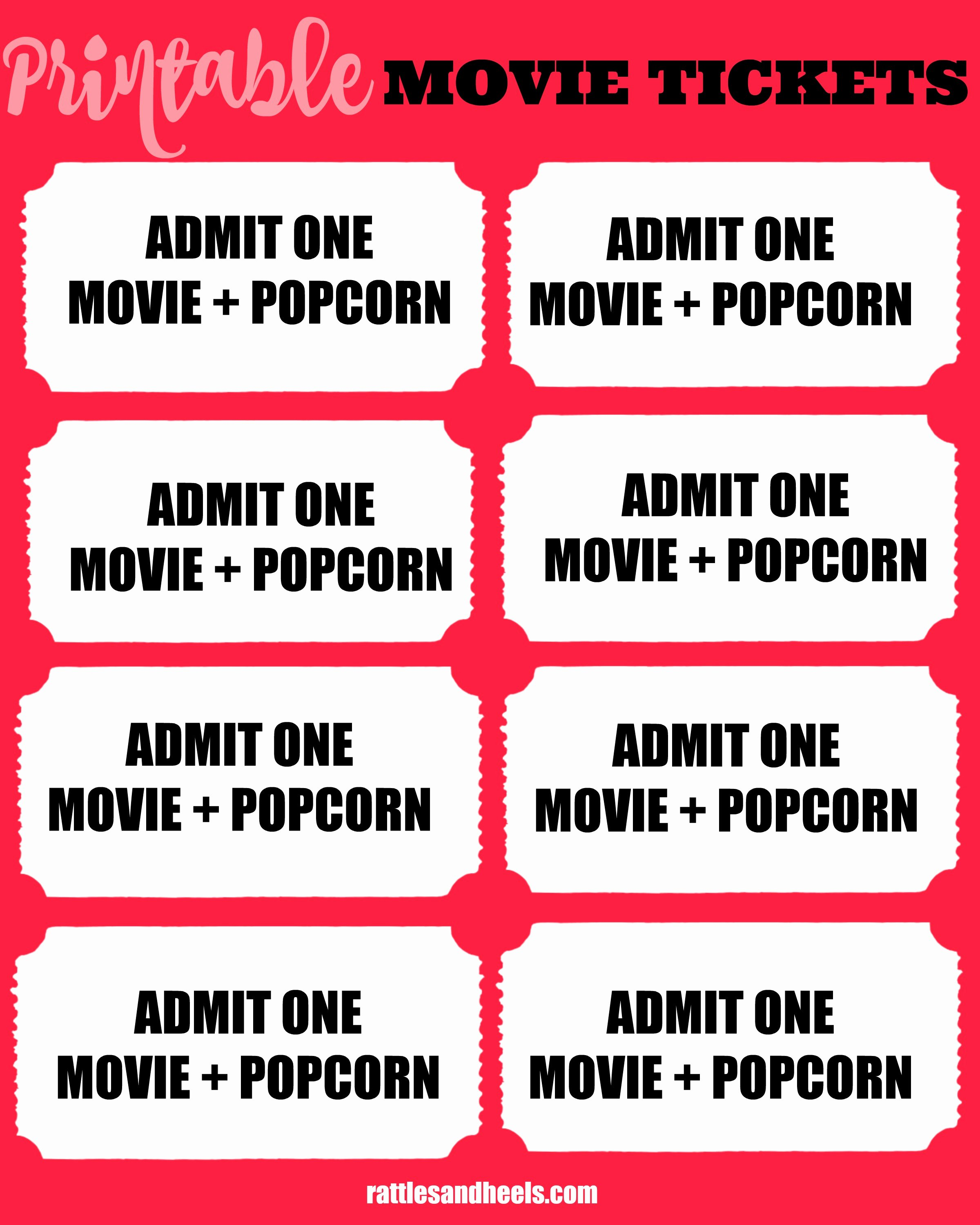 Printable Movie Tickets Template Fresh Family Movie Night with Printable Movie Tickets Giveaway