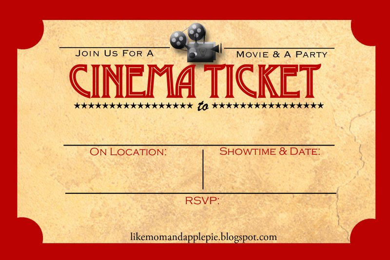 Printable Movie Tickets Template Inspirational Favorite Movie Night Party Ideas Decor to Adore