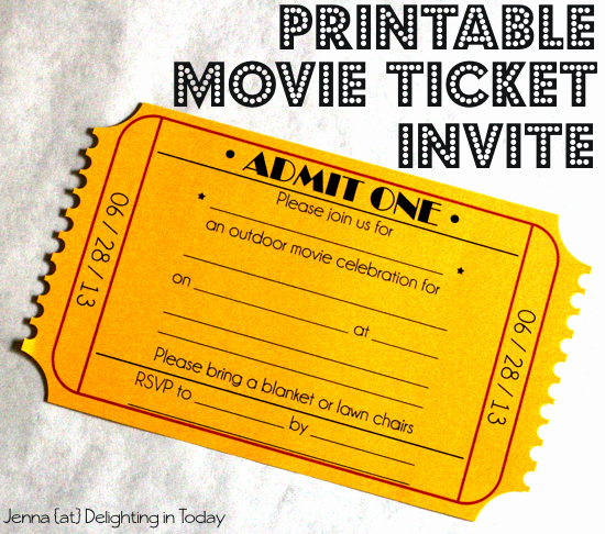 Printable Movie Tickets Template Inspirational Free Printable Movie Ticket Invite Video Tutorial On