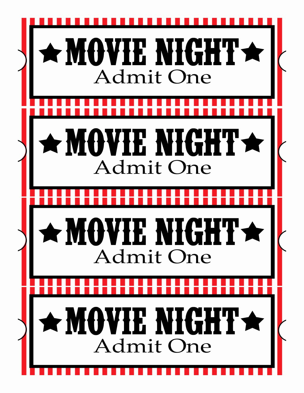 Printable Movie Tickets Template Lovely Sweet Daisy Designs Free Printables Home Movie theatre Night