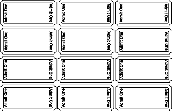 Printable Movie Tickets Template Luxury Blank Tickets Clip Art at Clker Vector Clip Art