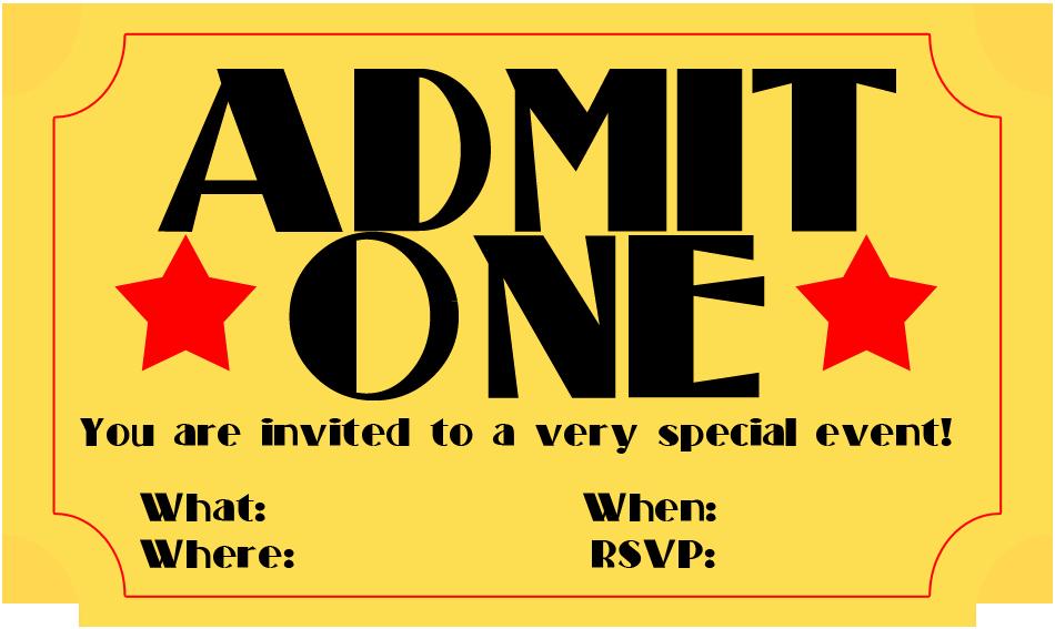 Printable Movie Tickets Template New Free Printable Invitation Movie Ticket Stub Frugalful