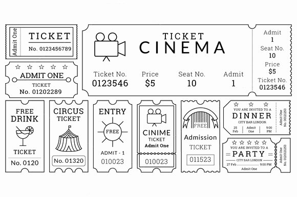 Printable Movie Tickets Template Unique 16 Movie Ticket Templates Psd Ai Word