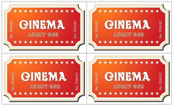 Printable Movie Tickets Template Unique 6 Movie Ticket Templates to Design Customized Tickets
