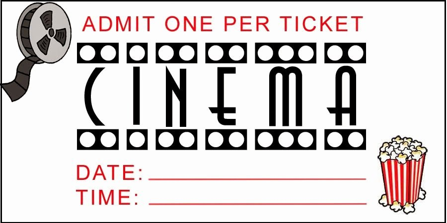 Printable Movie Tickets Template Unique Family Strong Free Printable Movie Night Tickets