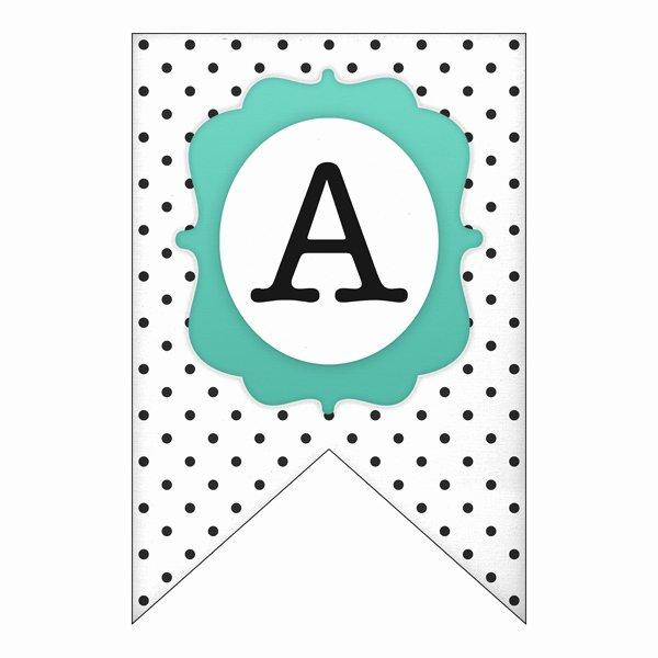 Printable Pennant Banner Template Awesome Free Printable Polka Dot Banner Set