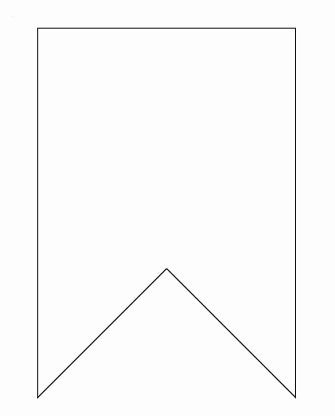 Printable Pennant Banner Template Best Of Bunting Template On Pinterest