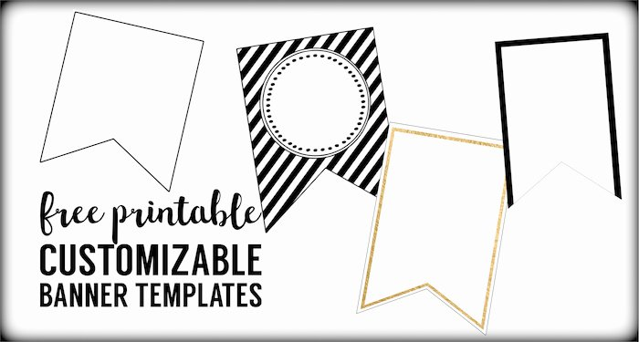 Printable Pennant Banner Template Free Beautiful Free Printable Banner Templates Blank Banners Paper