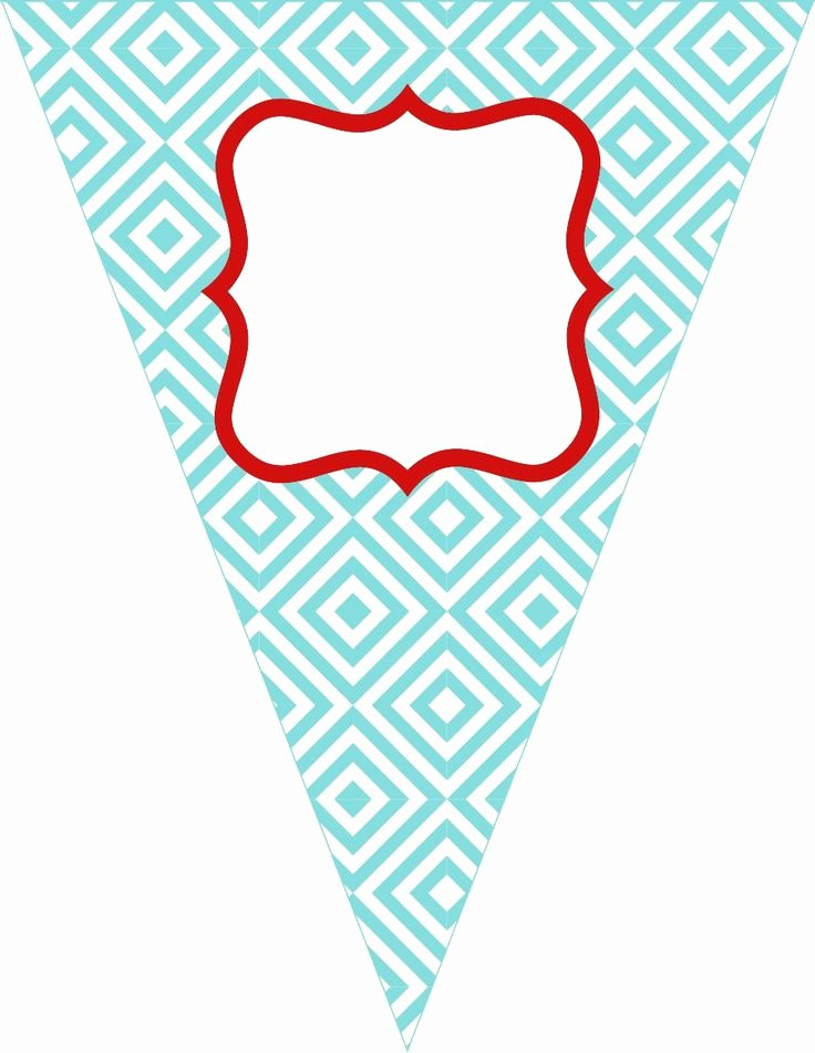 Printable Pennant Banner Template Free Elegant Free Printable Birthday Banner Paper Crafts
