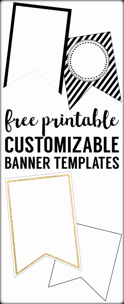 Printable Pennant Banner Template Free Luxury Free Printable Banner Templates Blank Banners