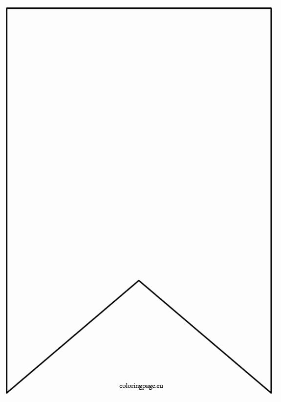 Printable Pennant Banner Template Fresh Flag Banner Template Coloring Page