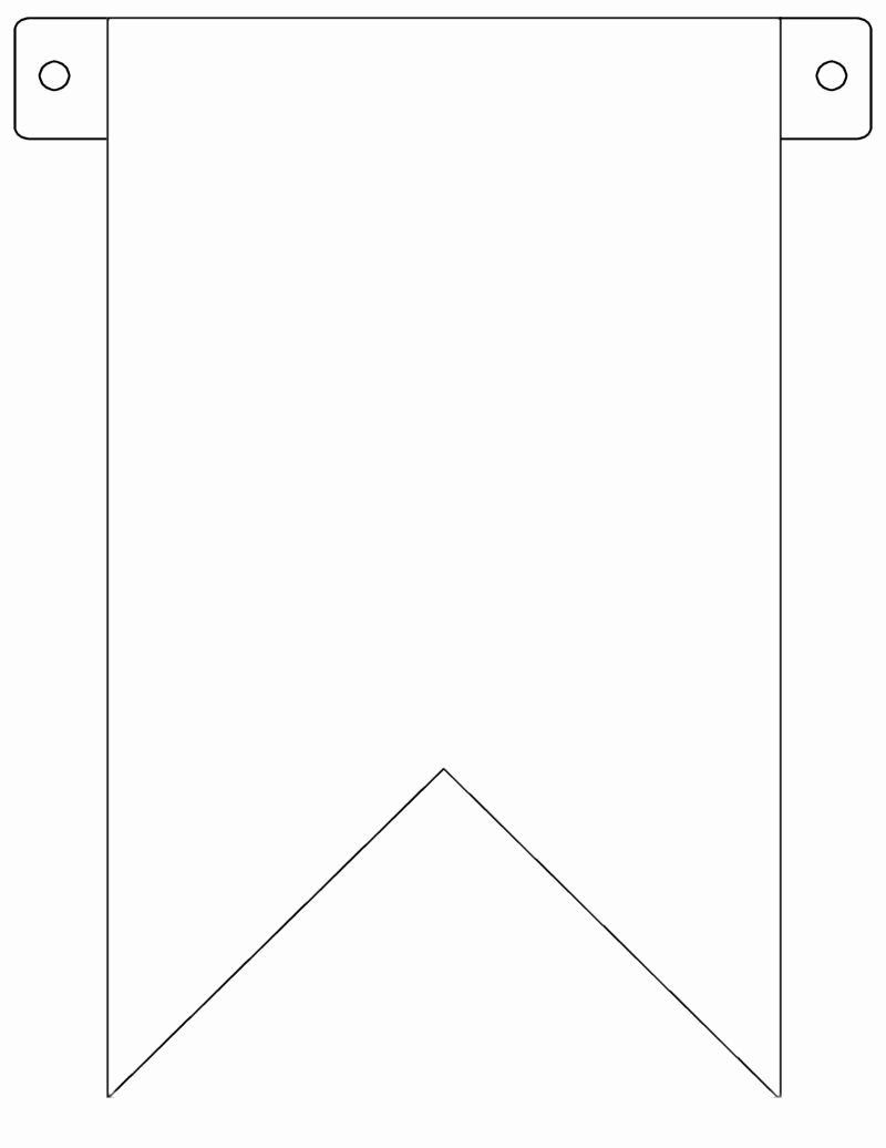 Printable Pennant Banner Template Lovely Banner Flag Template Free to Use