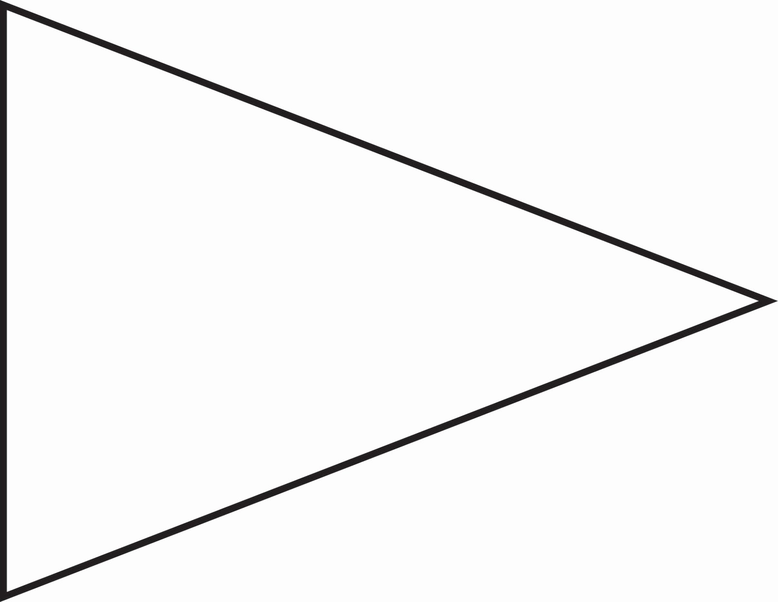 Printable Pennant Banner Template Lovely Pin Triangle Flag Outline Clip Art Vector Line Royalty