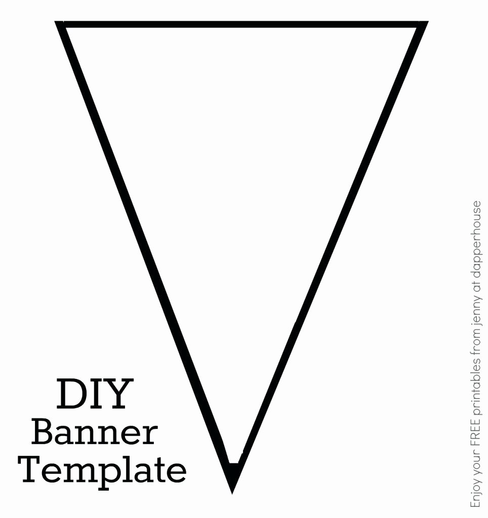 Printable Pennant Banner Template Luxury Triangle Template for Bunting