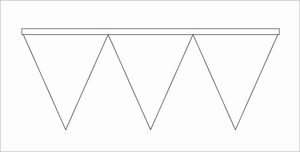 Printable Pennant Banner Template New Pennant Banner Template