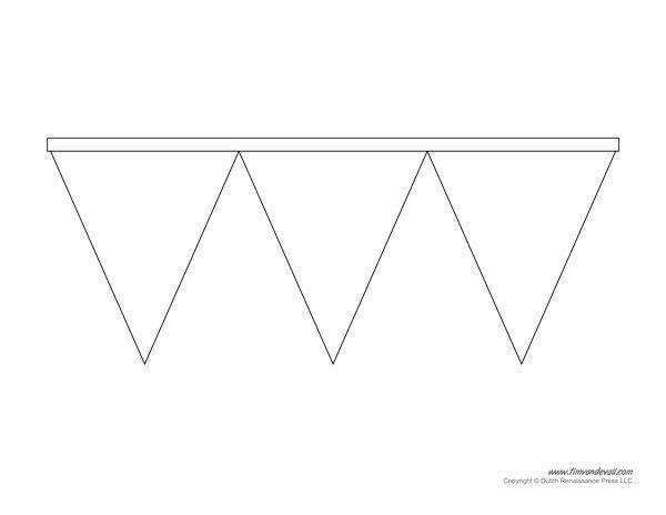 Printable Pennant Banner Template Unique Printable Pennant Banner Template & Triangle Banner Templates