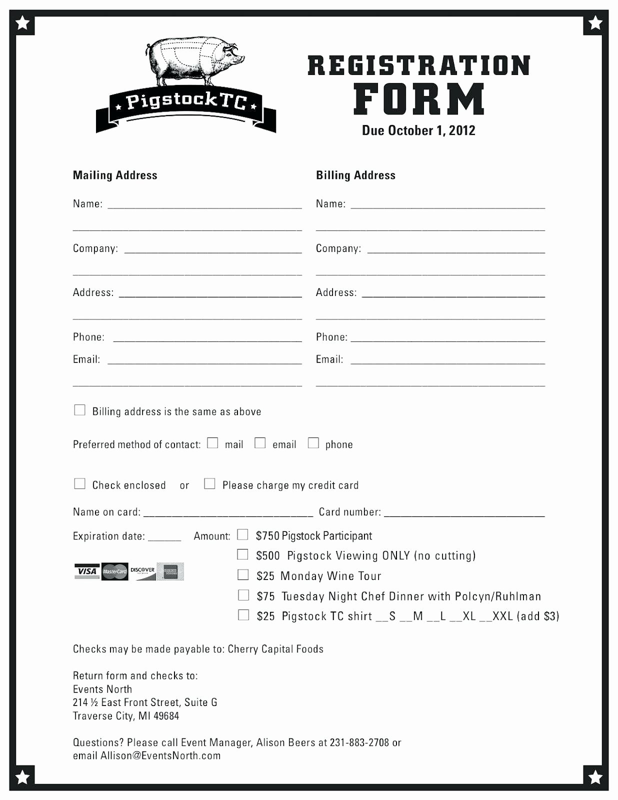 Printable Registration form Template Elegant Sample Workshop Registration form Template