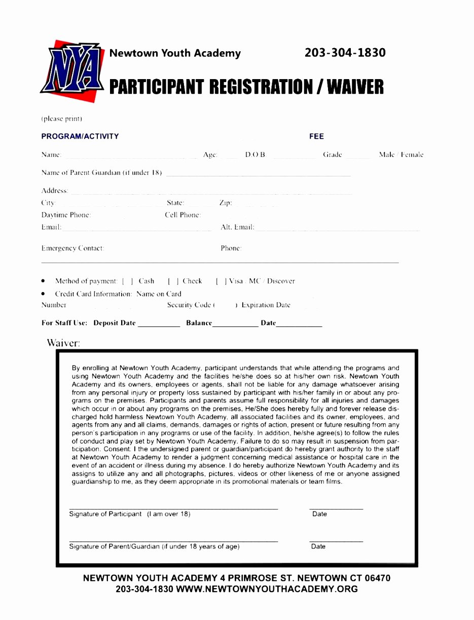 Printable Registration form Template Luxury 7 Baseball Registration form Template Piuur