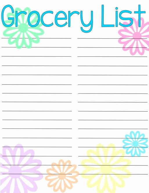 Printable Shopping List Template Best Of 25 Best Ideas About Grocery List Printable On Pinterest