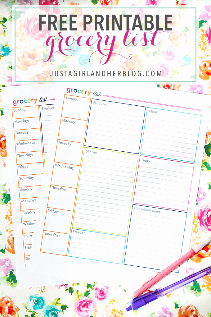 Printable Shopping List Template Best Of An organized Grocery List and Free Printables