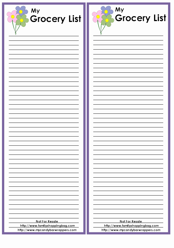 Printable Shopping List Template Best Of Shopping List Template Printable