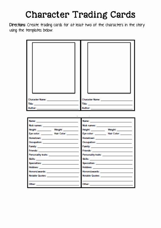 Printable Trading Card Template Awesome 2 Trading Card Templates Free to In Pdf