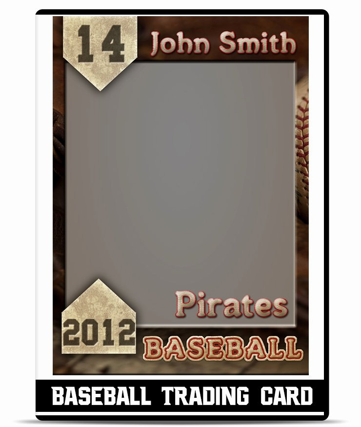 Printable Trading Card Template Awesome Baseball Card Template Beepmunk
