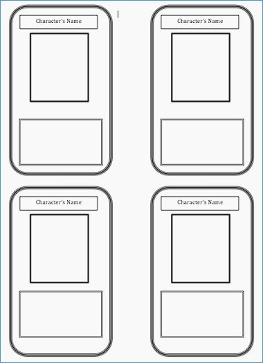 Printable Trading Card Template Awesome Printable Trading Card Template – Harddancefo