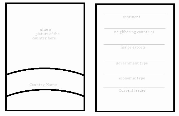 Printable Trading Card Template Beautiful Free Diy Geography Trading Card Template
