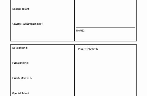 Printable Trading Card Template Beautiful Printable Trading Card Template