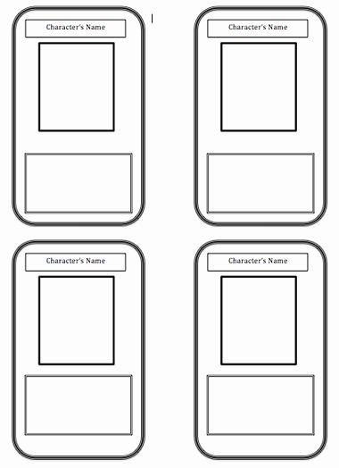 Printable Trading Card Template Beautiful Trading Card Template