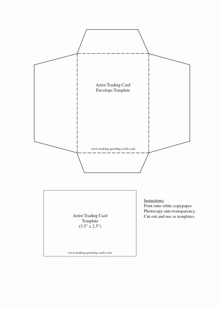 Printable Trading Card Template Best Of 18 Best Envelope Templates Images On Pinterest